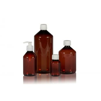 Pharma Flasche PET Braun