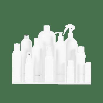 Basic Round Flasche HDPE Weiß
