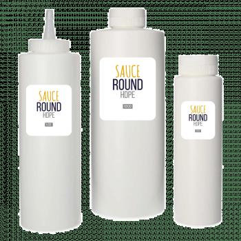Sauce Flasche HDPE Weiß