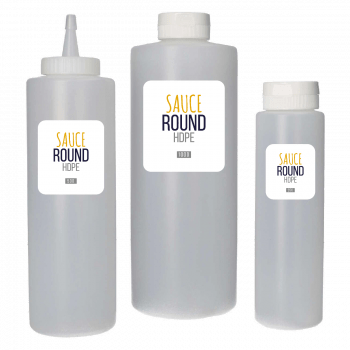 Sauce Flasche HDPE Natur