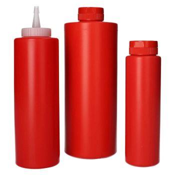 Sauce Flasche HDPE Rot