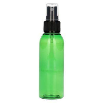 100 ml Basic Round PET grün + Sprühpump schwarz