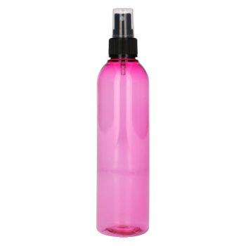 250 ml Basic Round PET rosa + Sprühpump schwarz