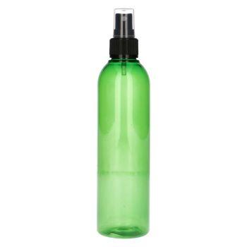 250 ml Basic Round PET grün + Sprühpump schwarz