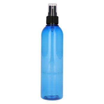 250 ml Basic Round PET blau + Sprühpump schwarz