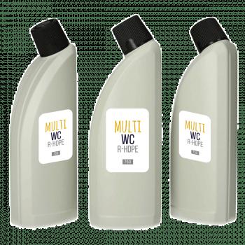 Recycelt Multi WC Flasche HDPE