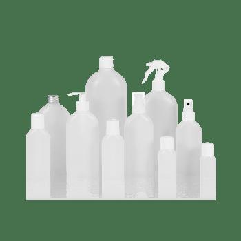 Basic Oval Flasche HDPE Natur