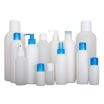 Basic Round Flasche HDPE Natural