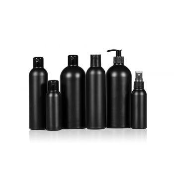Basic Round flessen HDPE Schwarz