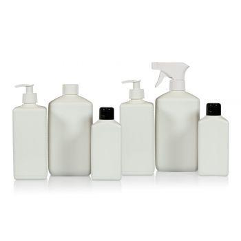 Recycelt Standard Square Flasche HDPE