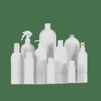 Basic Oval Flasche HDPE Weiß