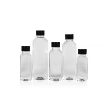 Recycelt Juice Square Flasche PET Transparent