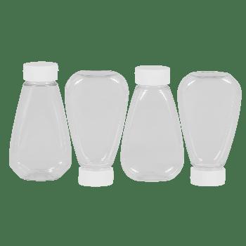 Sauce Oval flessen PET Transparent